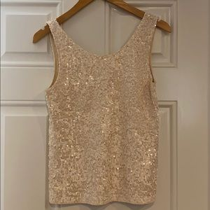 Jcrew sequined tank